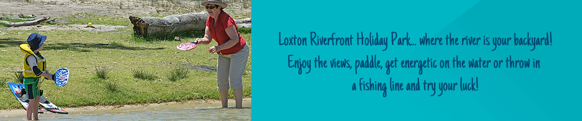 Loxton caravan park where the river is your backyard